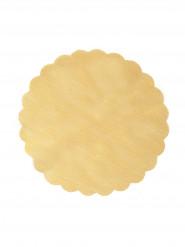 Set di 6 tovagliette sottopiatto in tulle color oro