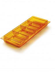 Vassoio con coppette arancione