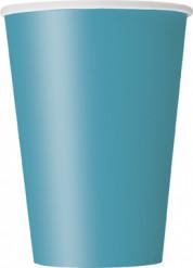 10 bicchieri di carta blu caraibico