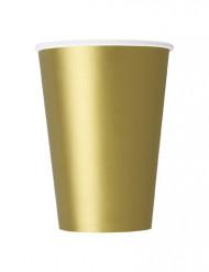 10 bicchieri in cartone color oro