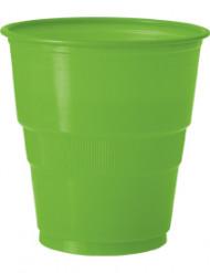 12 bicchieri verdi di plastica