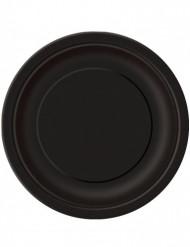 16 piatti neri di cartone per Halloween