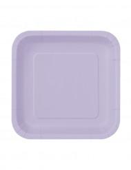 16 piattini color lavanda