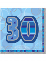 16 tovaglioli 30 anni blu