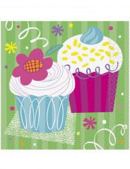 16 tovaglioli di carta Cupcake party