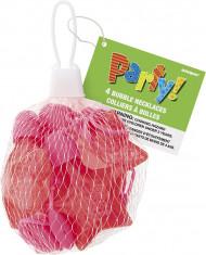4 collane a palle in forma di stella di colore rosa