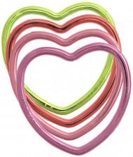 6 braccialetti metallici a forma di cuore