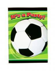 8 inviti di compleanno tema calcio verdi