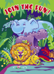8 inviti di compleanno safari colorato