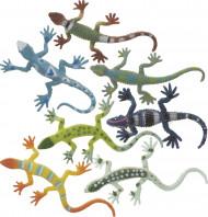 8 miniature di lucertola