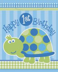 8 sacchetti da festa celesti 1° compleanno
