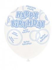 6 piccoli palloni Happy Birthday