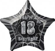 Palloncino grigio 18 anni a forma di stella