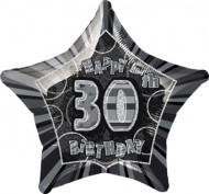 Palloncino grigio stella 30 anni