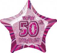 1 palloncino a forma di stella per i 50 anni