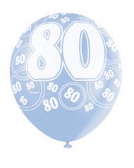 Palloncini blu con scritta 80 anni