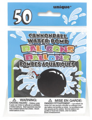 50 palloncini neri ad acqua