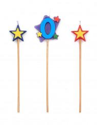 Set candeline alte e numero 0