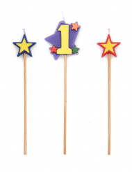 Set candeline alte e numero 1