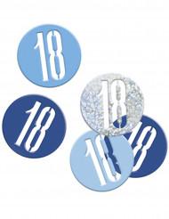 Coriandoli per i 18 anni blu e grigi