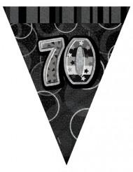 Ghirlanda con bandierine per i 70 anni