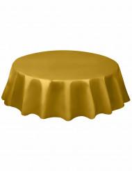 Tovaglia rotonda in plastica oro