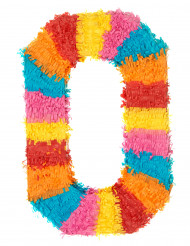 Pignatta multicolore a forma di 0