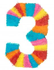 Pignatta a forma di numero 3
