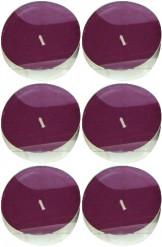 Set 6 Candele scaldavivande color prugna