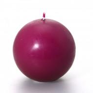 Candela a forma di sfera color prugna