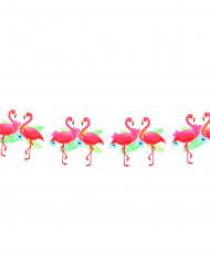 Festone Hawaii cartonato di fenicotteri rosa