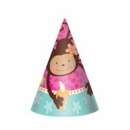 8 cappelli per festa di compleanno con scimmietta