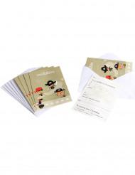 6 cartoline di invito con buste Pirata