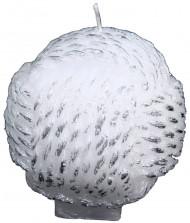 Candela bianca gomitolo di lana