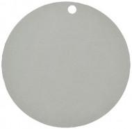 10 segnaposti in cartoncino color argento