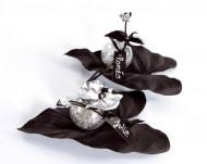 Inchiostro paillettato argento
