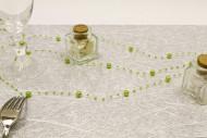 Ghirlanda di perle verde anice