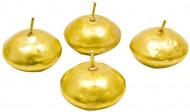 4 candele galleggianti dorate