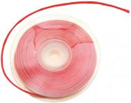 Rotolo di rafia con filo metallico rosso