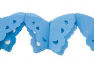 Ghirlanda di carta farfalle blu