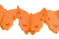 Ghirlanda di carta con farfalle arancioni