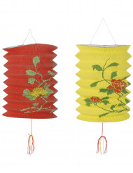 2 lanterne cinesi rossa e gialla