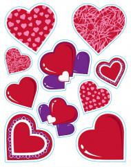 Stickers cuori di San Valentino