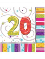 Tovagliolini di carta 20 anni multicolor