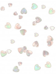 Coriandoli rosa a cuore in rilievo