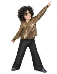Costume disco con paillettes oro per ragazzi