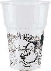 Bicchieri di plastica Mickey black and white™