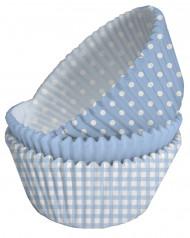 75 pirottini di carta blu cupcake