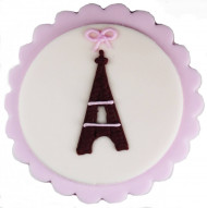 Decorazione di zucchero a tema Parigi
