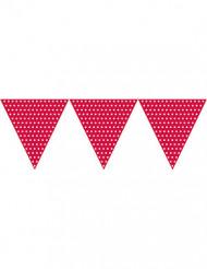 Ghirlanda di bandierine triangolari rosse